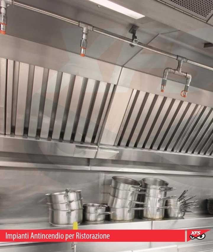 impianti antincendio per ristorazione