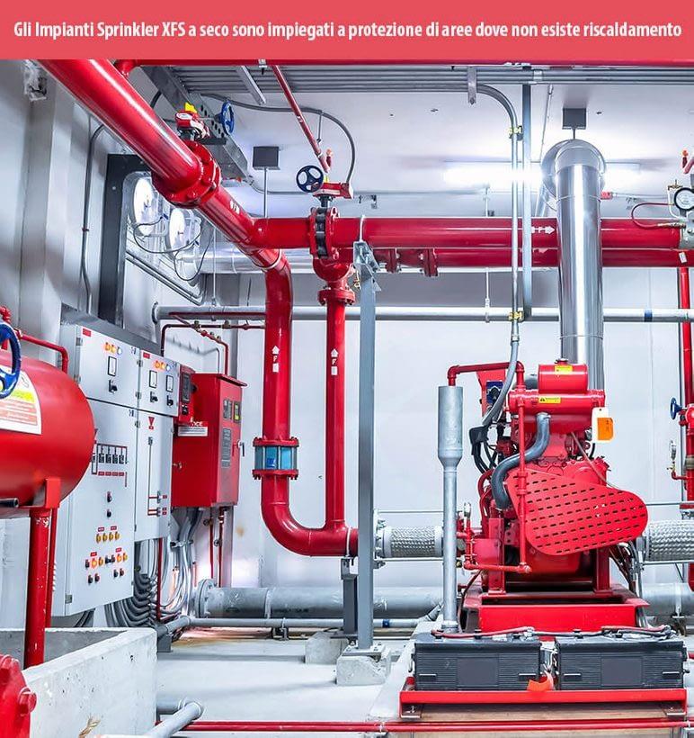 impianti sprinkler a seco antincendio